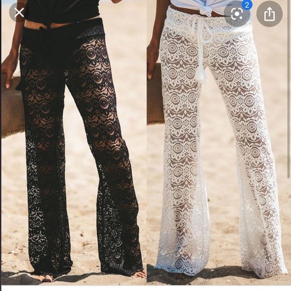 Solitaire Other - Solitarie swim cover wide leg crochet/lace pants